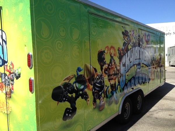 Game Truck wrapped trailer
