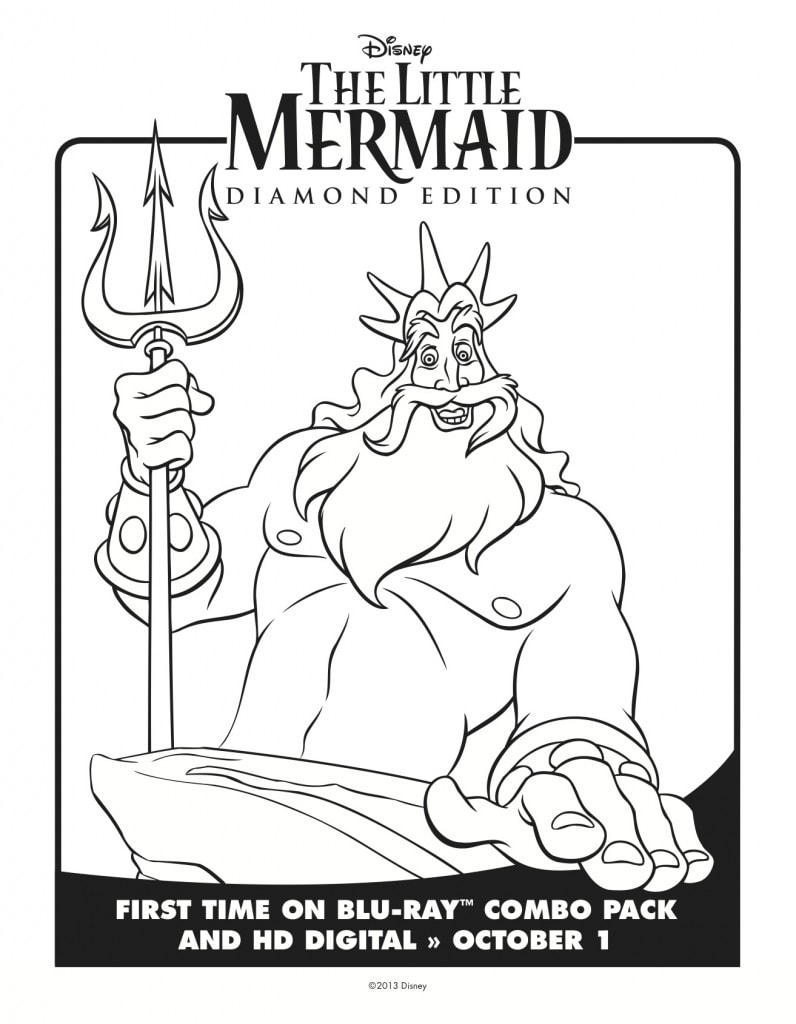 The Little Mermaid Coloring Pages: Free Downloads