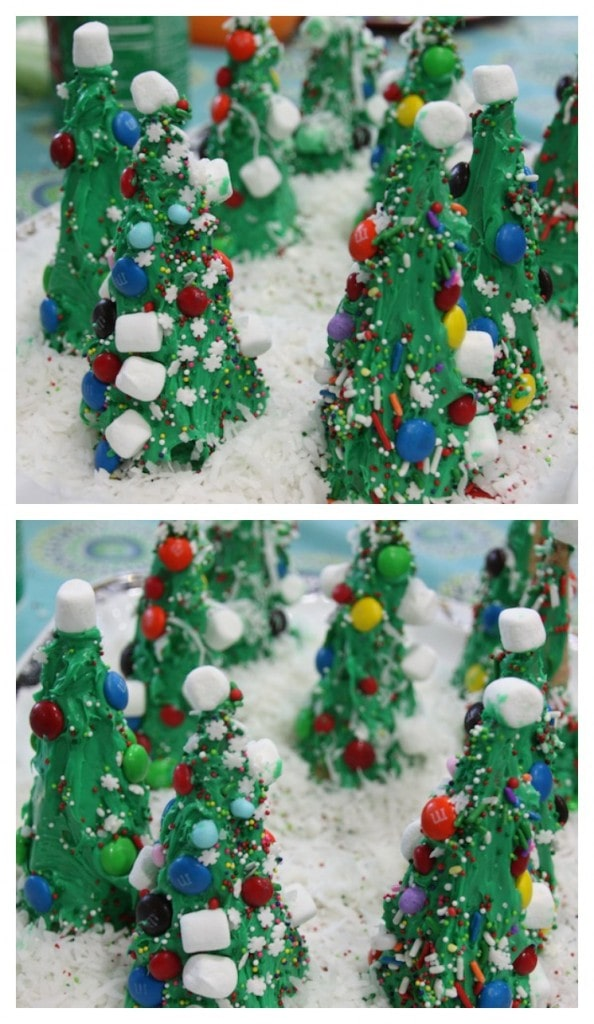 Easy Christmas Craft Ideas For The Kids: Frosting Ice Cream Cone Trees