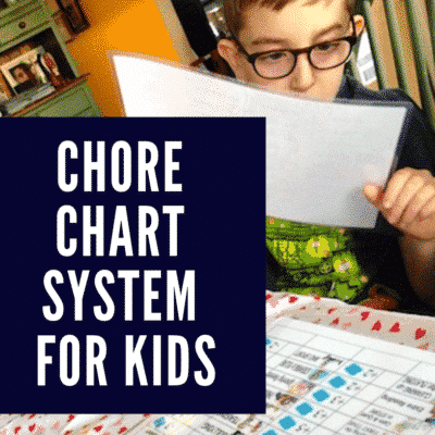 Chore Chart System For Kids - Includes Tickets As Rewards