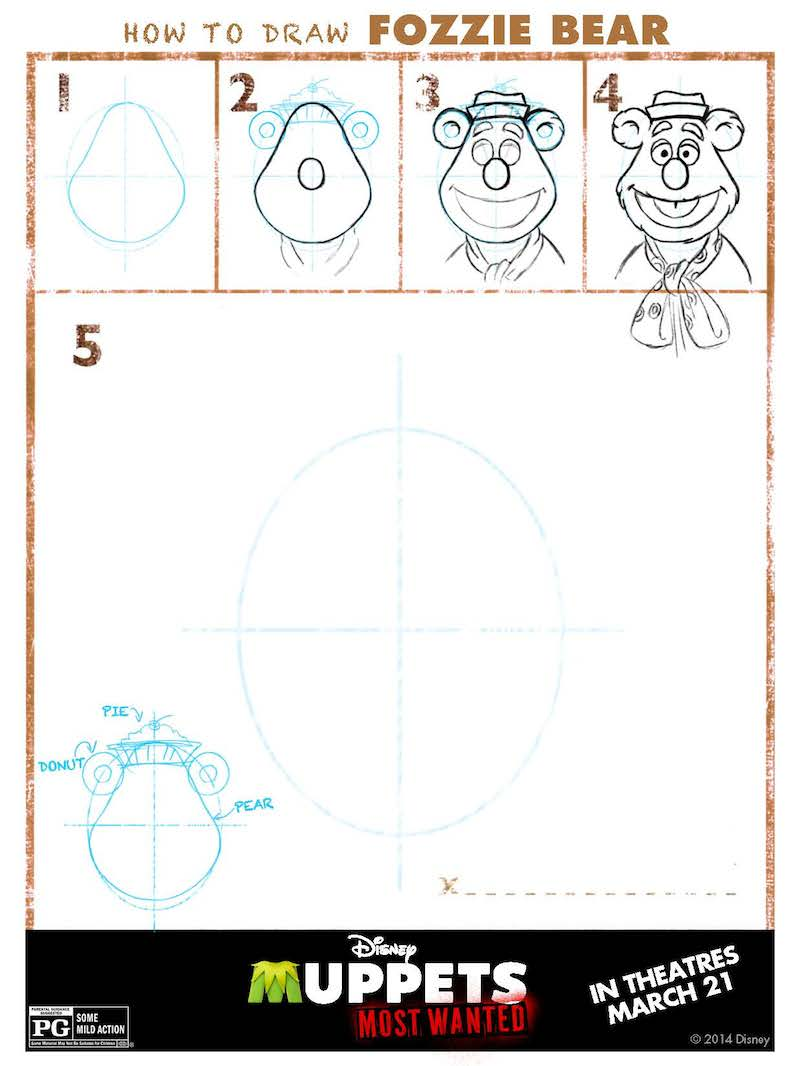 How To Draw The Muppets: Fozzie Bear