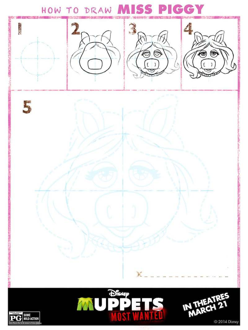 How To Draw The Muppets: Miss Piggy