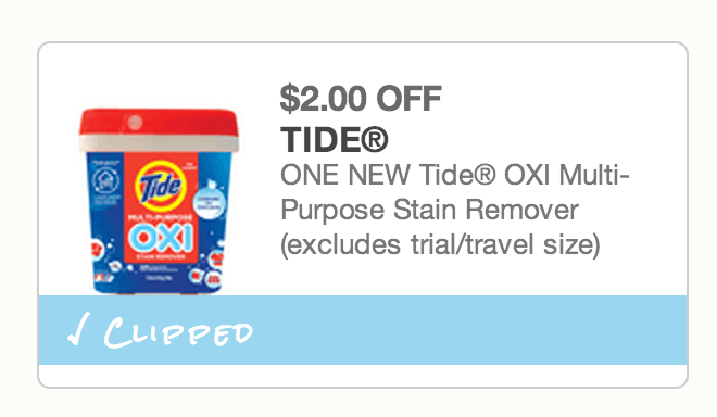 Tide Oxi Multi-Purpose Stain Remover - $2 Off Coupon