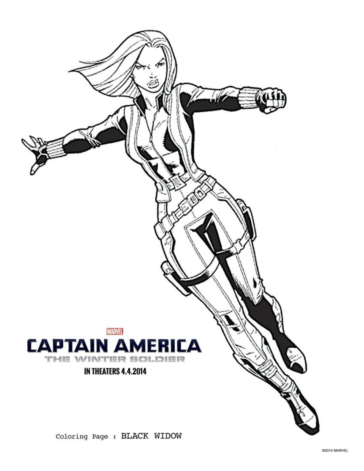 FREE Captain America Coloring Pages Winter Soldier