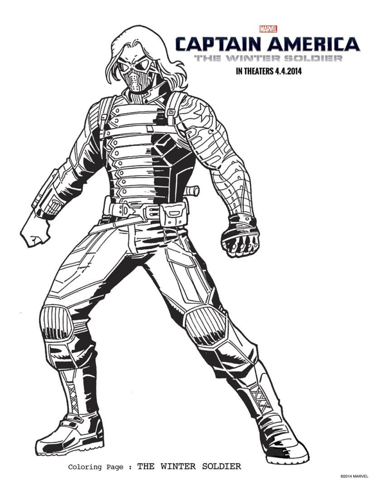 FREE Captain America 2 Coloring Pages Download Printables Here