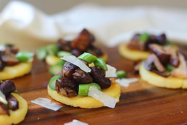Polenta-Bites-with-Sherried-Mushrooms-Asparagus-and-Parmesan-7