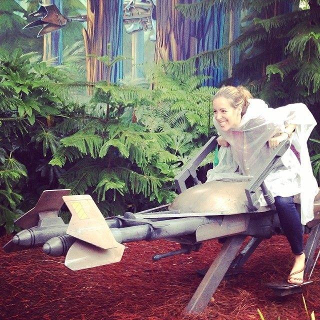 Mom on Star Wars Rider