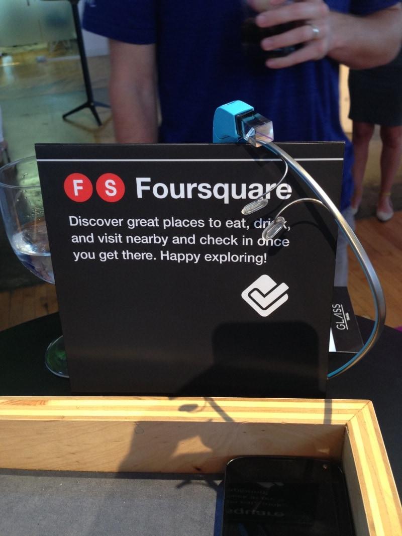 Google Glass Foursquare