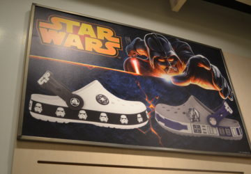 The new Crocs Star Wars Collection for kids features stormtrooper and R2-D2 shoes