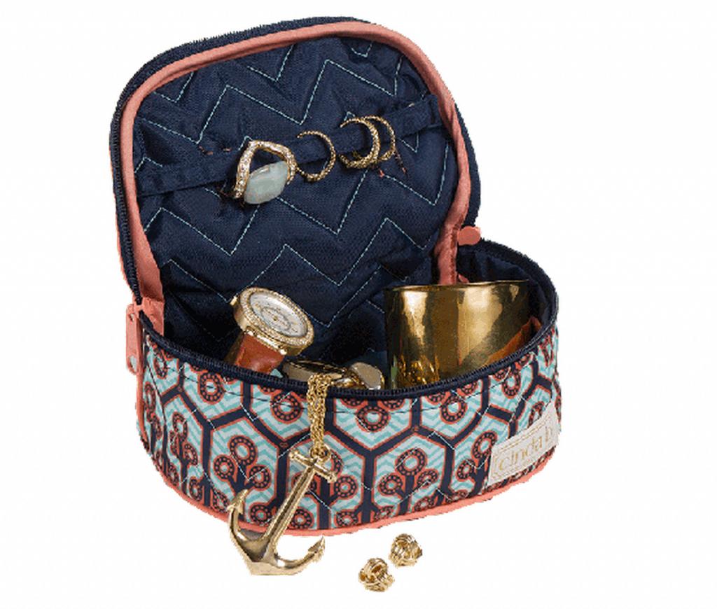 cinda b jewelry bag