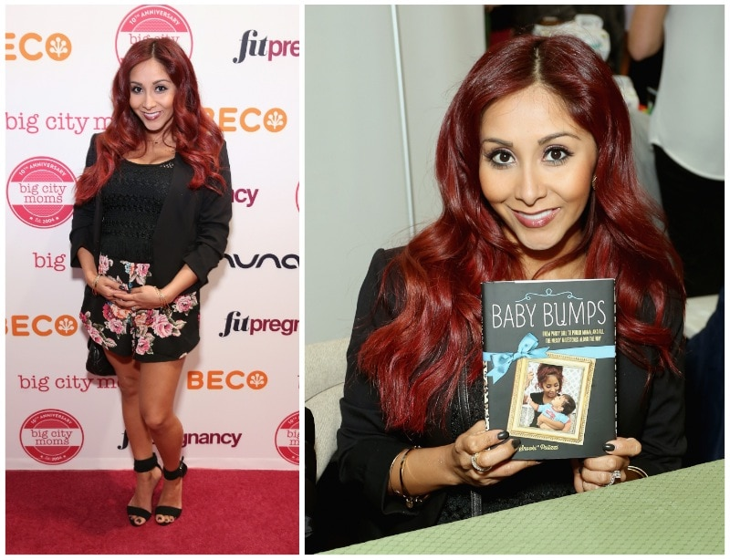 Big City Moms Snooki who was on hand signing copies of her new book Baby Bumps: From Party Girl to Proud Mama and all the Messy Milestones Along the Way.
