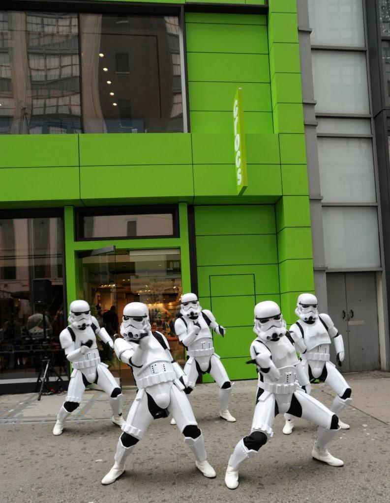 Stormtroopers Dancing at Crocs in New York City