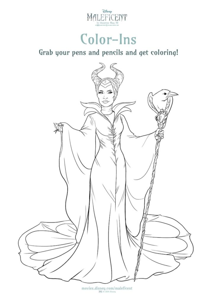 MALEFICENT Printables And Coloring Sheets