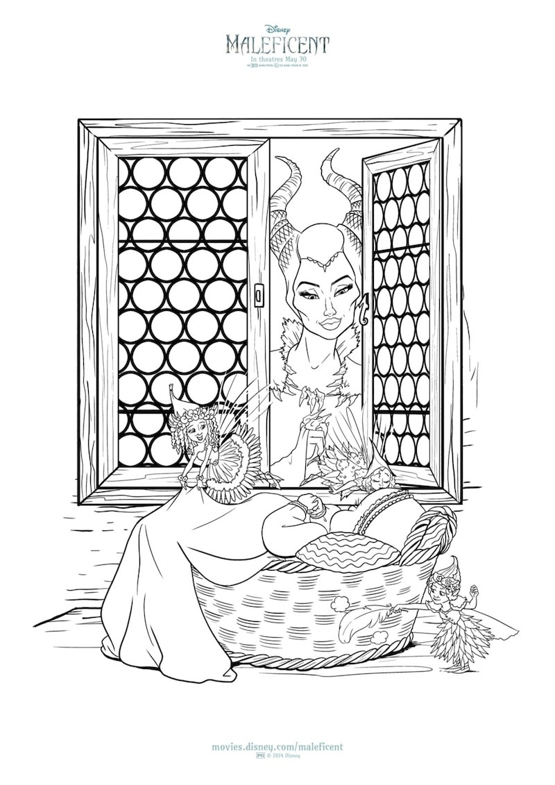 New MALEFICENT Printables And Coloring