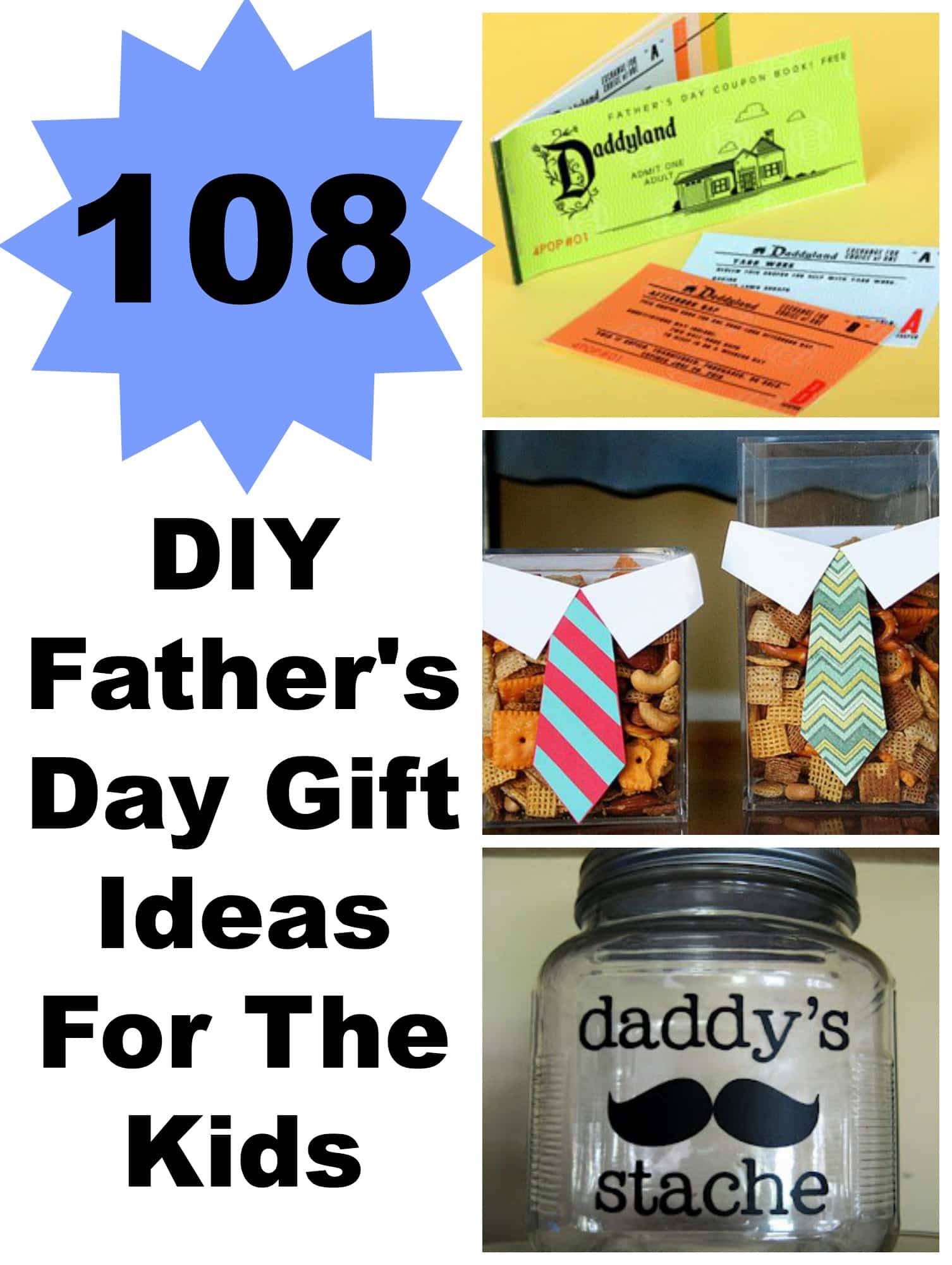 108 DIY Father\'s Day Gift Ideas For The Kids - Lady and the Blog
