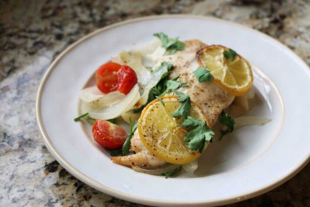 Baked Tilapia Recipe Lemon Tomato Onion