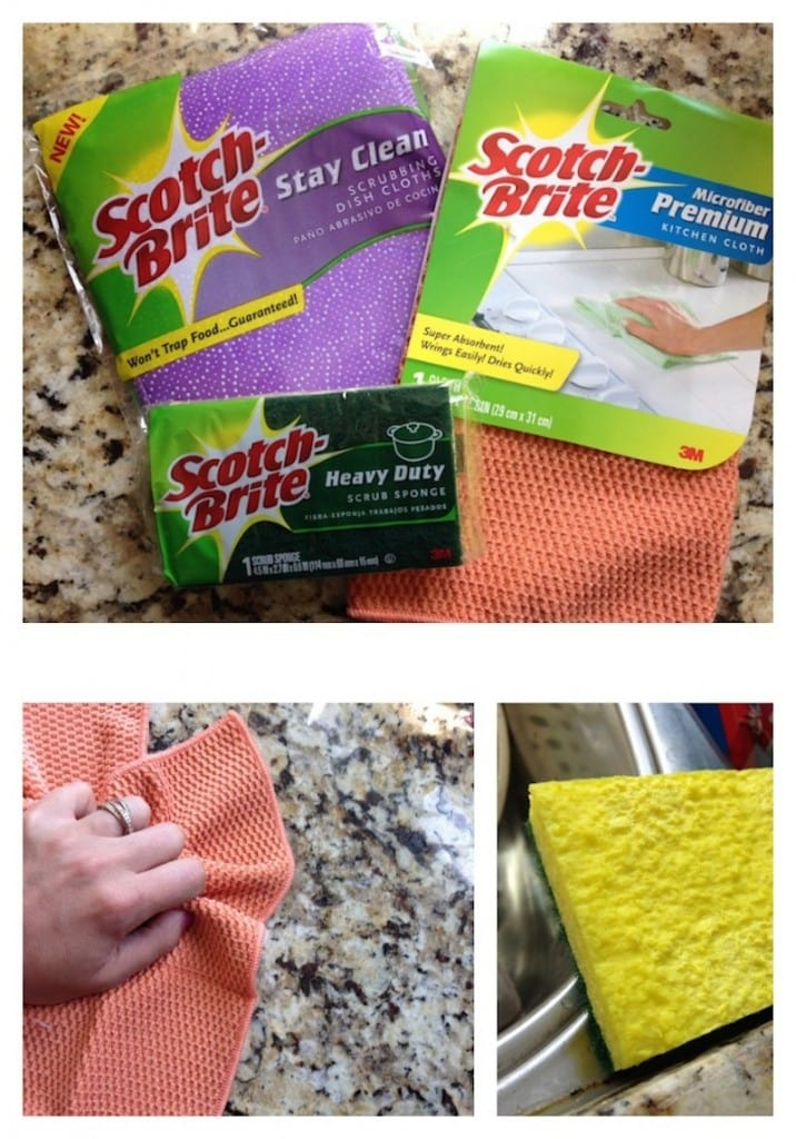 Scotch Brite stay clean heavy duty sponge and microfiber products