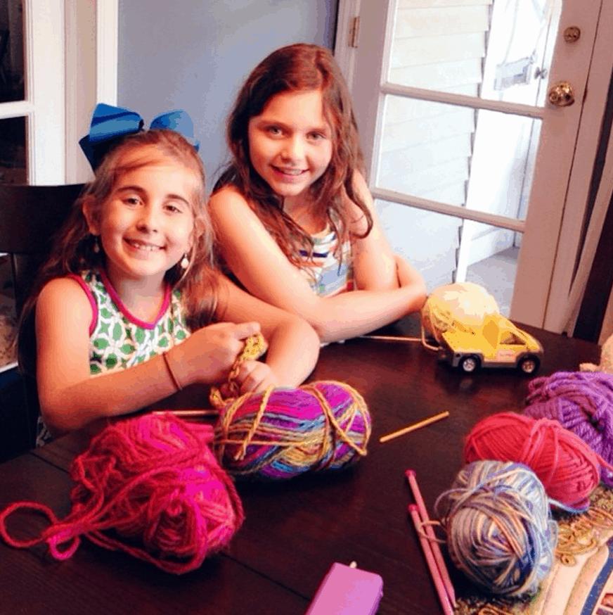 kids knitting