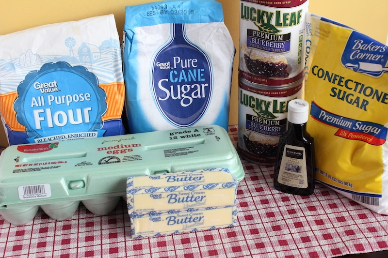 Blueberry Pie Bars ingredients