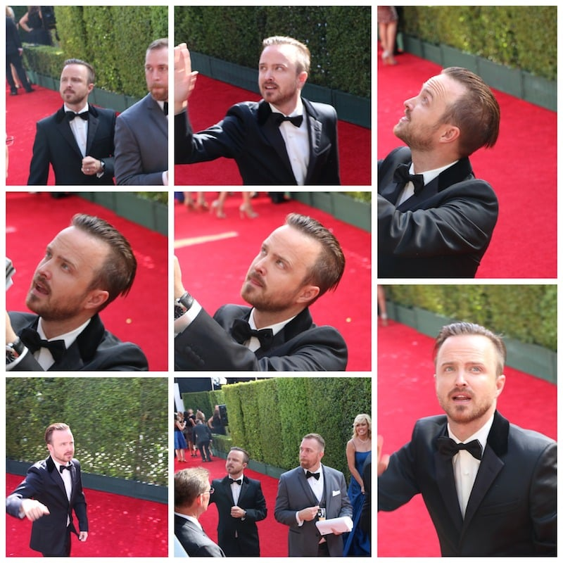 Aaron Paul emmys 2014 red carpet