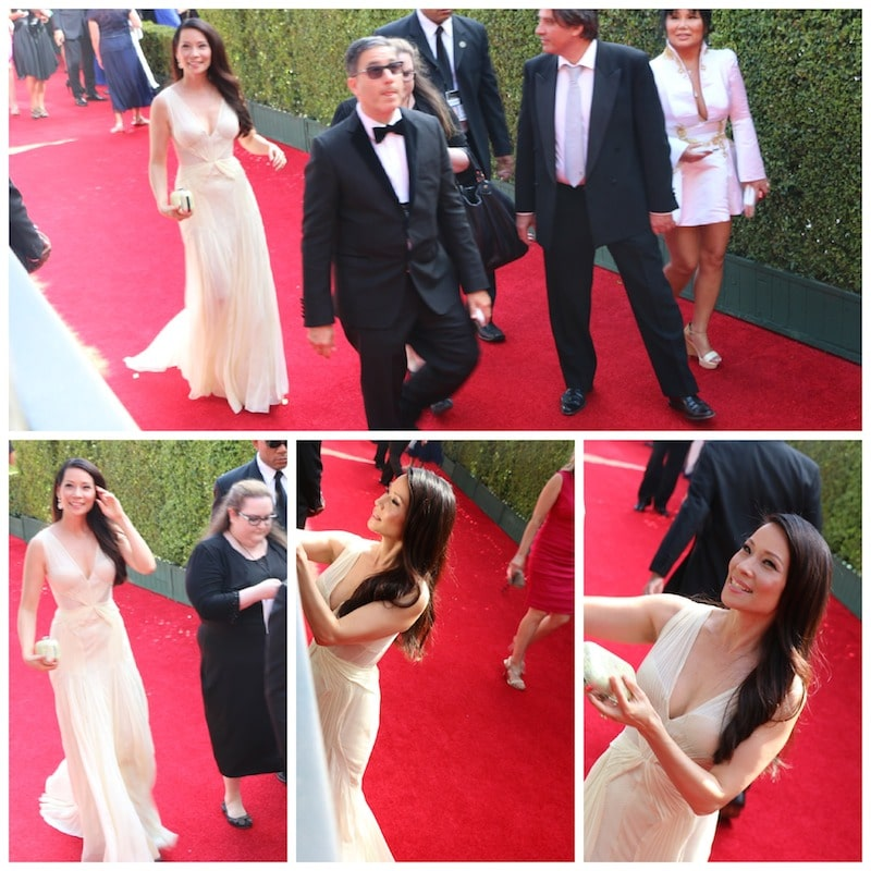 Lucy Liu red Carpet emmys 2014