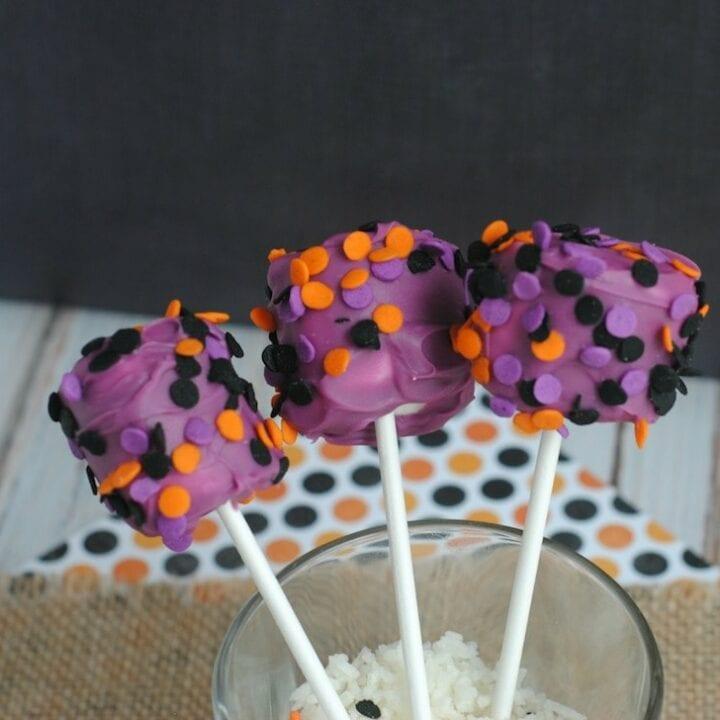 Purple Marshmallow Halloween Pops