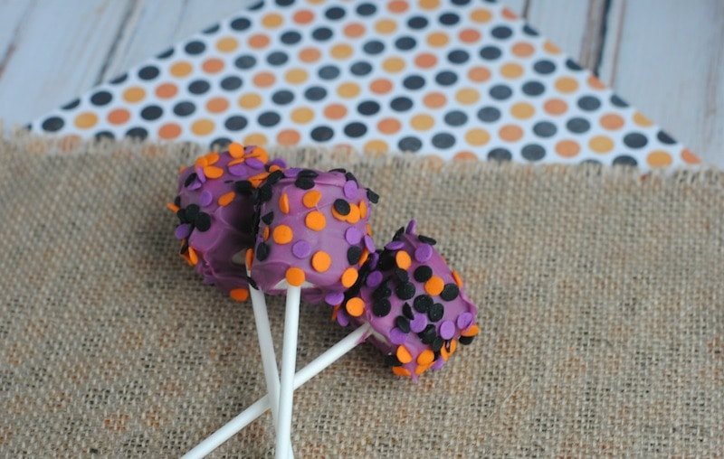 Halloween Marshmallow Pops Recipe - Purple Polka Dots