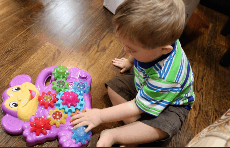 Playskool Stack n Spin Monkey Gears Toy Review