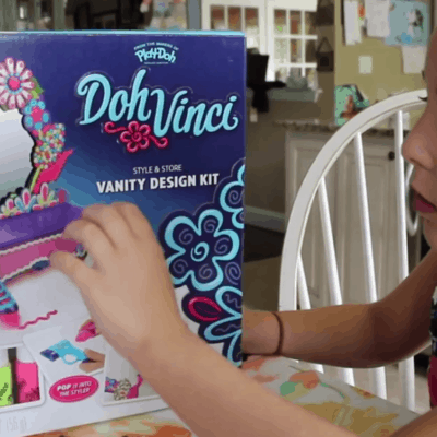 DohVinci Play Doh Vanity Complete Design Kit Toy Review