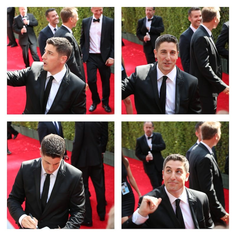 jason biggs emmys 2014 red carpet
