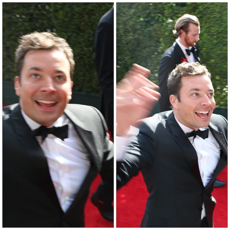 jimmy fallon red carpet emmys 2014