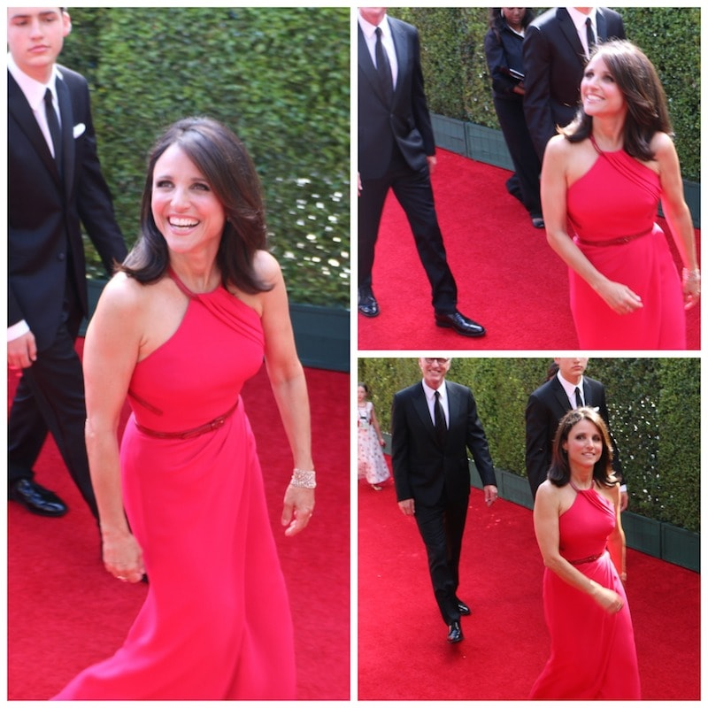 julia louis dreyfus red carpet emmys 2014