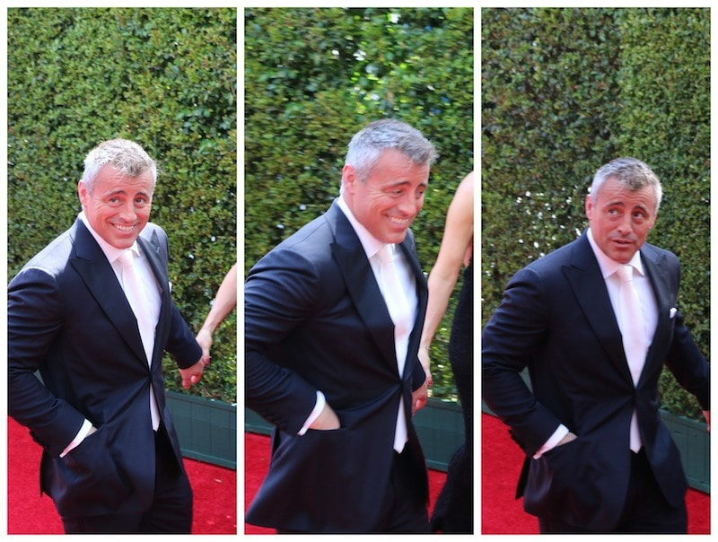 matt leblanc red carpet emmys 2014