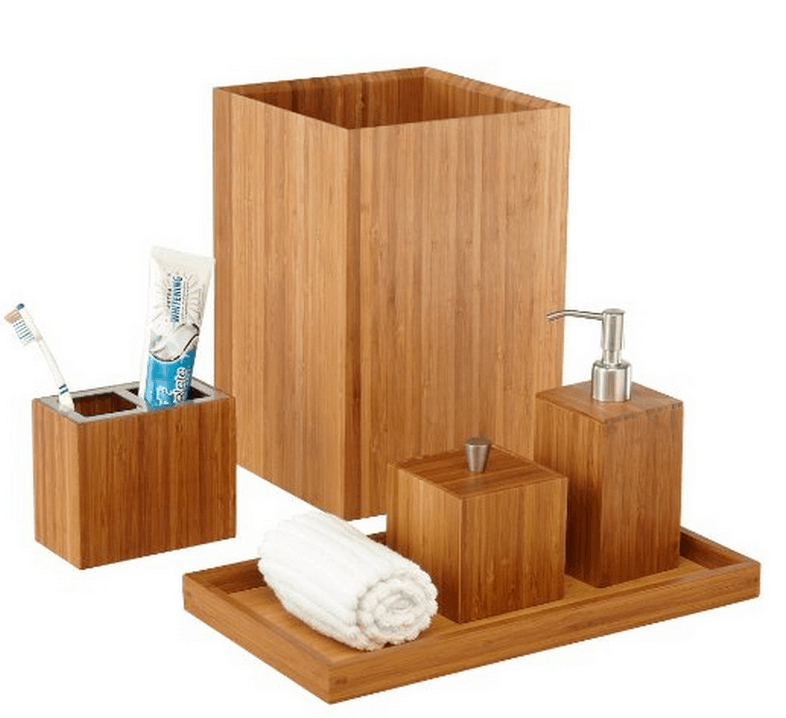 Seville Classics Bamboo Bath and Vanity Set