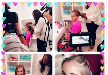 Johnson's® No More Tangles® Seasonal Hair Video Shoot In NYC With Natalie #NoMoreTangles