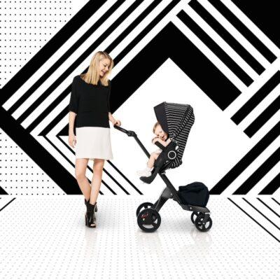 Stokke True Black Xplory Limited Adjustable Stroller