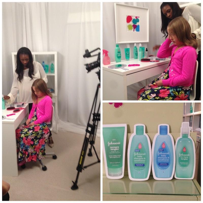 Johnson's No More Tangles Seasonal Hair Video Shoot