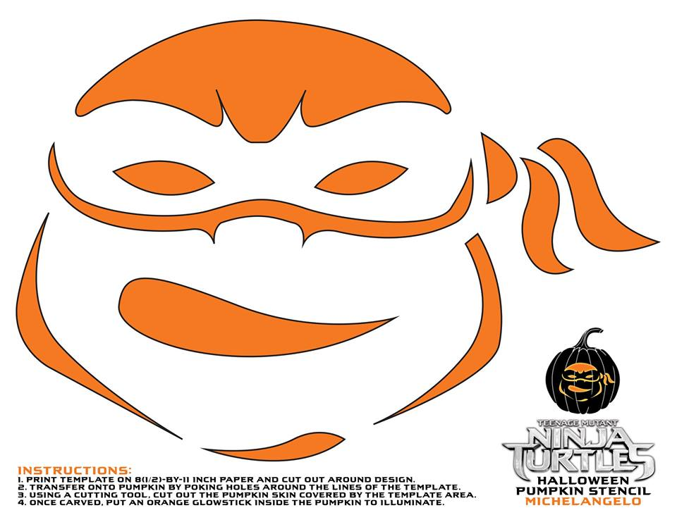 Teenage Mutant Ninja Turtles Pumpkin Stencils For Halloween