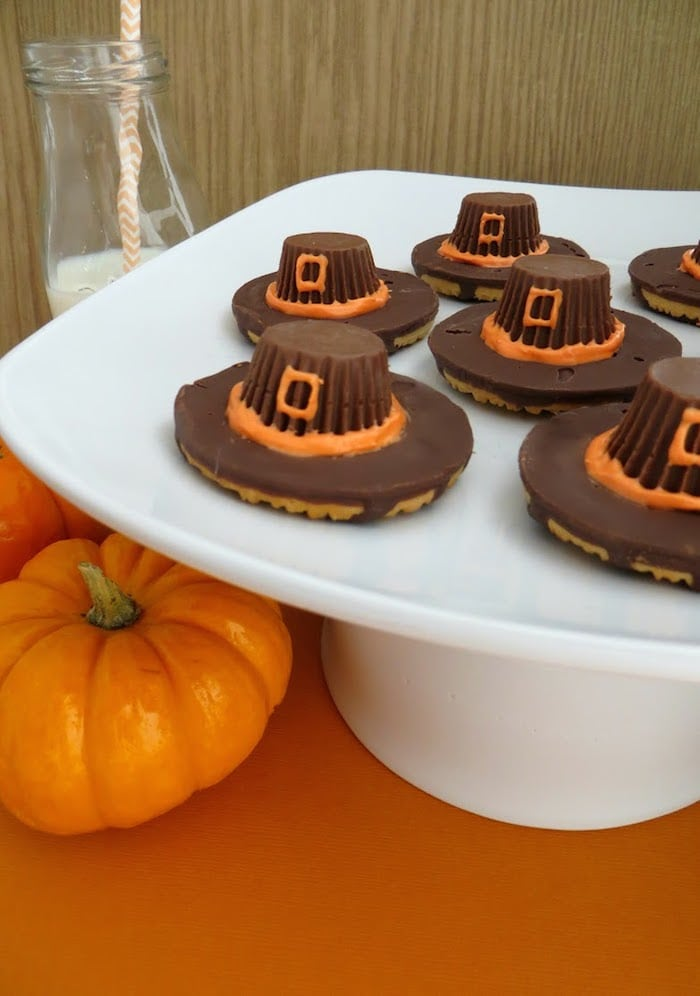 Pilgrim Hat Cookies, Thanksgiving