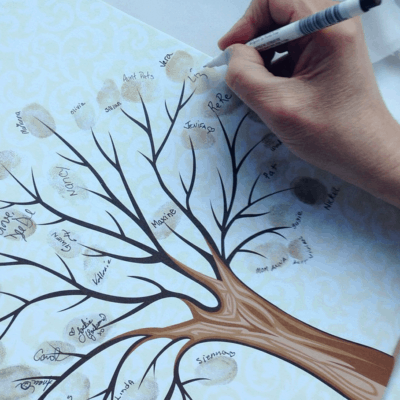 thumbprint tree keepsake