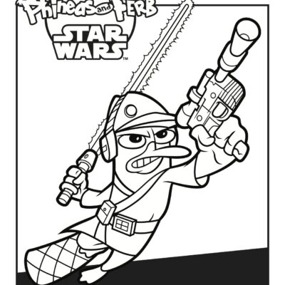 Activity Sheets: Phineas and Ferb: Star Wars on DVD Now