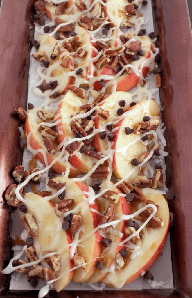 Dessert Nachos With Apples