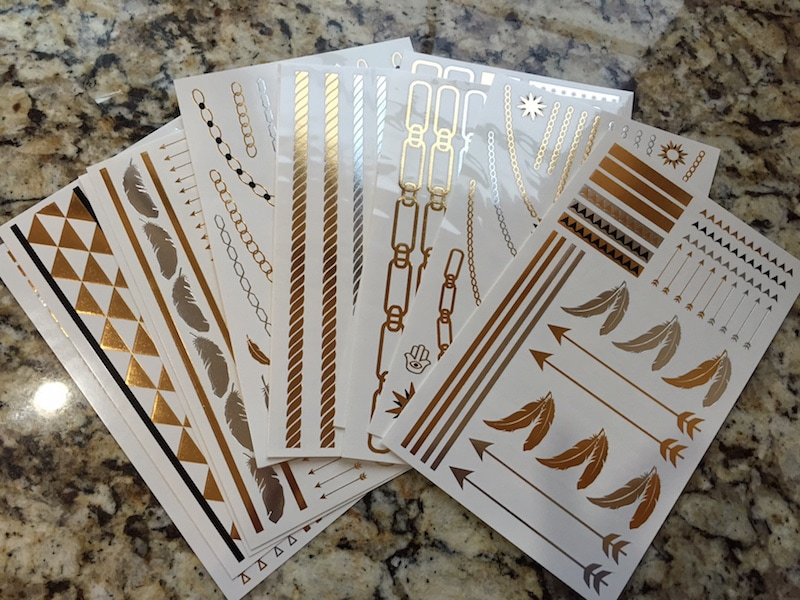 HOT JEWELS - METALLIC TEMPORARY TATTOOS