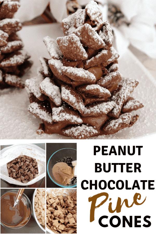 Peanut Butter Chocolate Pine Cones