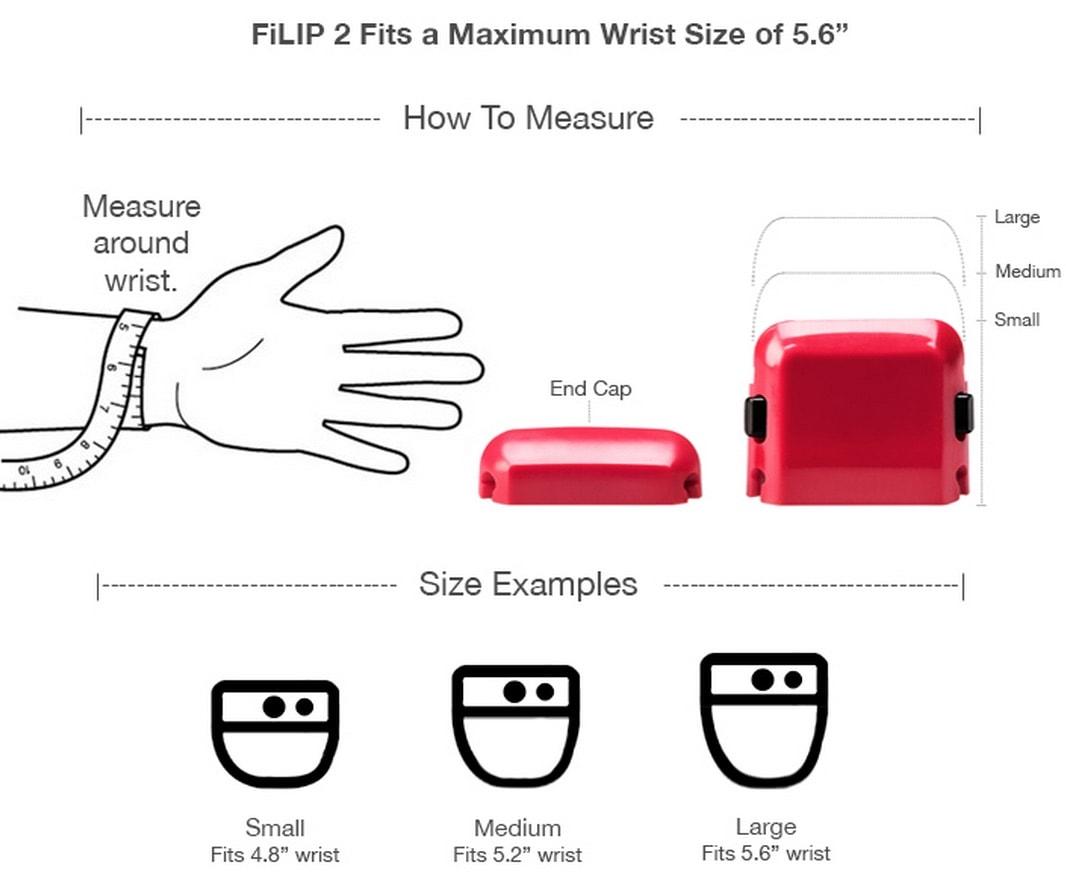 FiLIP 2 Watch Maximum Wrist Size