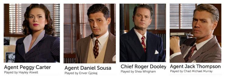 Agent Carter Cast Collage