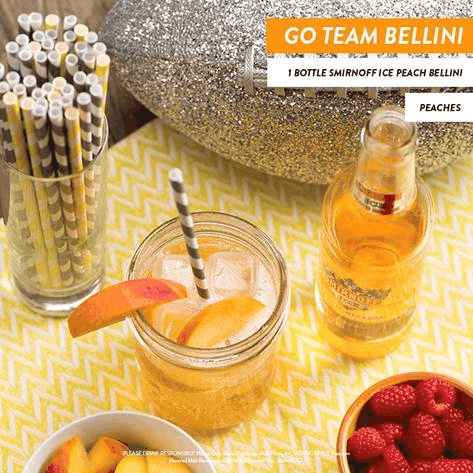 Go Team Bellini - Game Day Cocktails