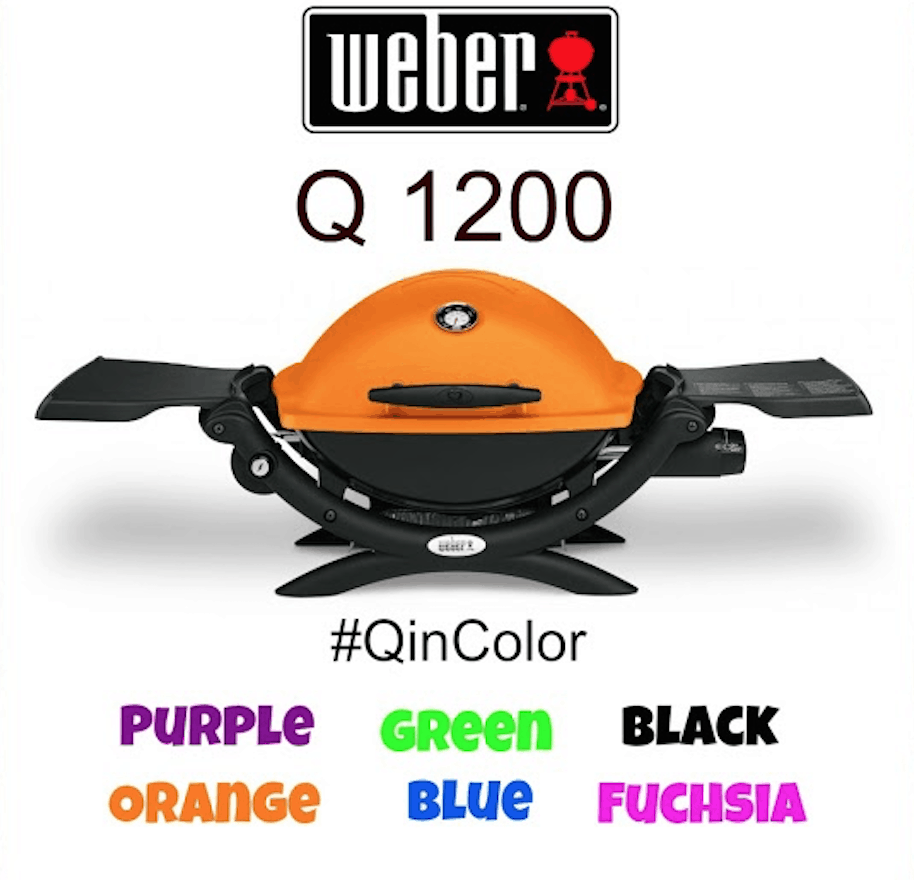 the weber q 1200 launch new colors for bbq season qincolor lady and the blog. Black Bedroom Furniture Sets. Home Design Ideas