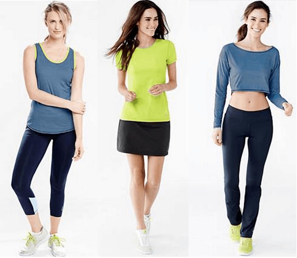 Lands End Activewear Women's Fitness Line
