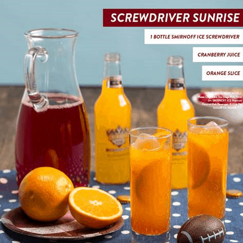 Screwdriver Sunrise - Game Day Cocktails